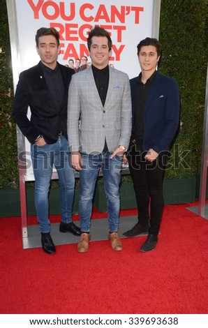 """LOS ANGELES - NOV 12:  The Scheme at the """"Love the Coopers"""" Los Angeles Premiere at the The Grove on November 12, 2015 in Los Angeles, CA - stock photo"""