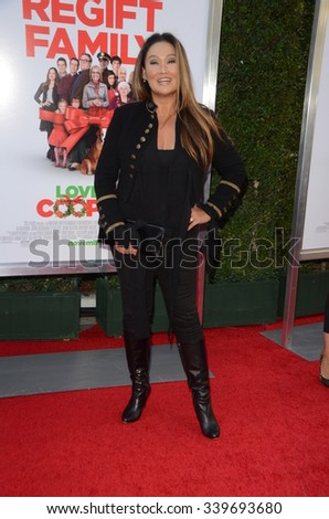 "LOS ANGELES - NOV 12:  Tia Carrere at the ""Love the Coopers"" Los Angeles Premiere at the The Grove on November 12, 2015 in Los Angeles, CA - stock photo"