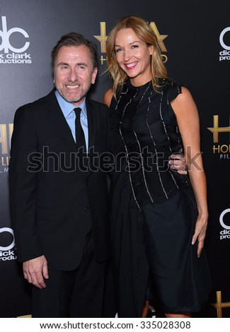 LOS ANGELES - NOV 1:  Tim Roth & Nikki Butler arrives to the Hollywood Film Awards 2015 on November 1, 2015 in Hollywood, CA.                 - stock photo
