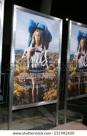 "LOS ANGELES - NOV 19:  Wild Poster at the ""Wild"" Premiere at the The Academy of Motion Pictures Arts and Sciences on November 19, 2014 in Beverly Hills, CA"