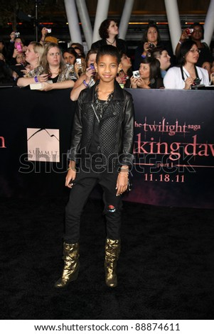 "LOS ANGELES - NOV 14:  Willow Smith arrives at the ""Twilight: Breaking Dawn Part 1"" World Premiere at Nokia Theater at LA LIve on November 14, 2011 in Los Angeles, CA - stock photo"
