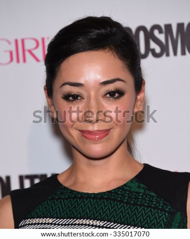 LOS ANGELES - OCT 13:  Aimee Garcia arrives to the Cosmopolitan's 50th Birthday Party on October 13, 2015 in Hollywood, CA.