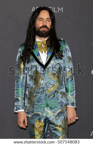 LOS ANGELES - OCT 29:  Alessandro Michele at the 2016 LACMA Art + Film Gala at Los Angeels Country Museum of Art on October 29, 2016 in Los Angeles, CA