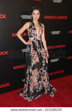 """LOS ANGELES - OCT 7:  Ana de Armas at the """"Knock Knock"""" Los Angeles Premiere at the TCL Chinese 6 Theaters on October 7, 2015 in Los Angeles, CA - stock photo"""