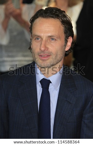 LOS ANGELES - OCT 3: Andrew Lincoln at a ceremony as Gale Anne Hurd is honored with a star on the Hollywood Walk of Fame on October 3, 2012 in Los Angeles, California