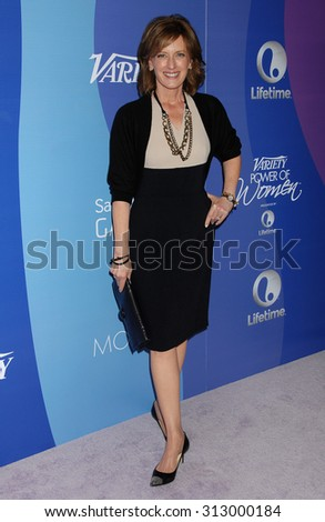 LOS ANGELES - OCT 4:  Anne Sweeney arrives at the Variety 5th Annual Power of Women Event   on October 4, 2013 in Beverly Hills, CA                 - stock photo