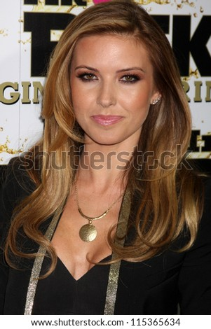 "LOS ANGELES - OCT 11:  Audrina Patridge arrives at the ""Mr. Pink"" Energy Drink Launch at Beverly Wilshire Hotel on October 11, 2012 in Beverly Hills, CA - stock photo"