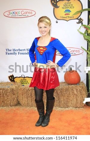 LOS ANGELES - OCT 21: Bailey Buntain at the Camp Ronald McDonald for Good Times 20th Annual Halloween Carnival at the Universal Studios Backlot on October 21, 2012 in Los Angeles, California - stock photo