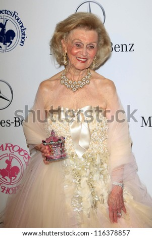 LOS ANGELES - OCT 20:  Barbara Davis arrives at  the 26th Carousel Of Hope Ball at Beverly Hilton Hotel on October 20, 2012 in Beverly Hills, CA