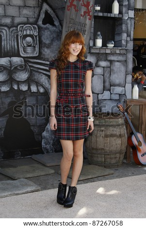 LOS ANGELES - OCT 23: Bella Thorne at the premiere of Dreamworks 'Puss In Boots' at the Regency Westwood Theater on October 23, 2011 in Los Angeles, California - stock photo