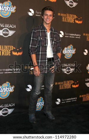 LOS ANGELES - OCT 7:  Billy Unger arrives at the 4th Annual Los Angeles Haunted Hayride VIP Premiere Night at Griffith Park on October 7, 2012 in Los Angeles, CA