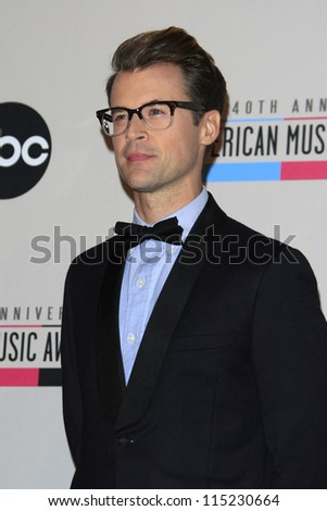 LOS ANGELES - OCT 9: Brad Goreski at the 40th Anniversary American Music Awards nominations press conference at the JW Marriott Los Angeles at L.A. LIVE on October 9, 2012 in Los Angeles, California - stock photo