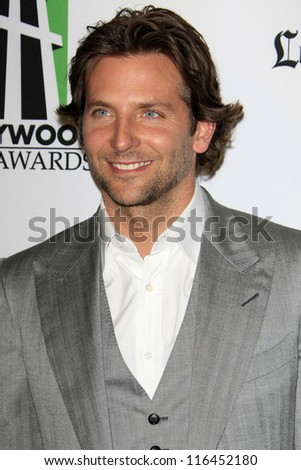 LOS ANGELES - OCT 22:  Bradley Cooper arrives at  the 2012 Hollywood Film Festival Gala at Beverly Hilton Hotel on October 22, 2012 in Beverly Hills, CA - stock photo