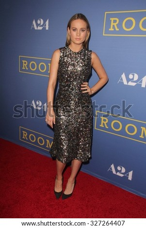 "LOS ANGELES - OCT 13:  Brie Larson at the ""Room"" Los Angeles Premiere at the Pacific Design Center on October 13, 2015 in West Hollywood, CA"