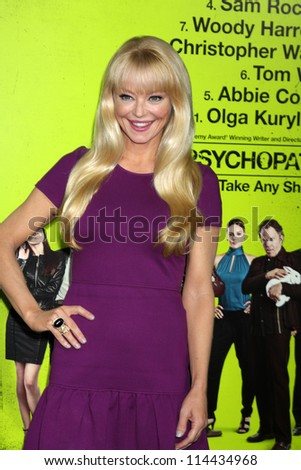 "LOS ANGELES - OCT 30:  Charlotte Ross  at the ""Seven Psychopaths"" Premiere at Bruin Theater on October 30, 2012 in Westwood, CA - stock photo"