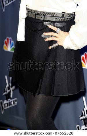 "LOS ANGELES - OCT 28: Christina Aguilera arrives at ""The Voice"" Press Junket on October 28, 2011 at the Sony Pictures Studios in Culver City, Los Angeles, California."
