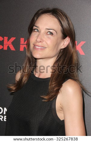 """LOS ANGELES - OCT 7:  Claire Forlani at the """"Knock Knock"""" Los Angeles Premiere at the TCL Chinese 6 Theaters on October 7, 2015 in Los Angeles, CA - stock photo"""