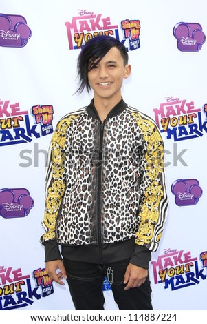 LOS ANGELES - OCT 6: Cole Plante at the 'Make Your Mark: Shake It Up Dance Off 2012' at LA Center Studios on October 6, 2012 in Los Angeles, California