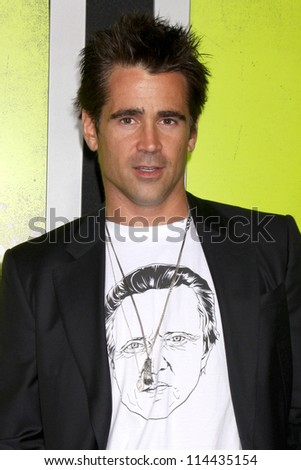 "LOS ANGELES - OCT 30:  Colin Farrell arrives at the ""Seven Psychopaths"" Premiere at Bruin Theater on October 30, 2012 in Westwood, CA - stock photo"