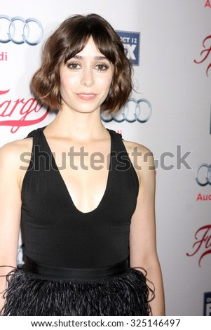"LOS ANGELES - OCT 7:  Cristin Milioti at the ""Fargo"" Season 2 Premiere Screening at the ArcLight Hollywood Theaters on October 7, 2015 in Los Angeles, CA"