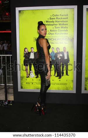 "LOS ANGELES - OCT 30:  Dania Ramirez  at the ""Seven Psychopaths"" Premiere at Bruin Theater on October 30, 2012 in Westwood, CA - stock photo"