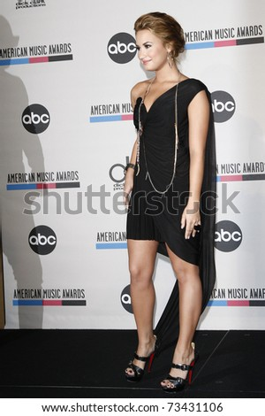 LOS ANGELES - OCT 12:  Demi Lovato arrives at the 2010 American Music Awards Nominations on October 12, 2010 in Los Angeles, CA