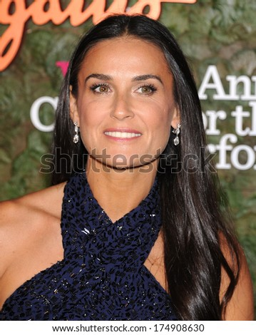 LOS ANGELES - OCT 17:  Demi Moore arrives to the Wallis Annenberg Center for the Performing Arts Gala  on October 17, 2013 in Beverly Hills, CA                 - stock photo