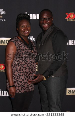"LOS ANGELES - OCT 2:  Dohn Norwood at the ""The Walking Dead"" Season 5 Premiere at Universal City Walk on October 2, 2014 in Los Angeles, CA - stock photo"