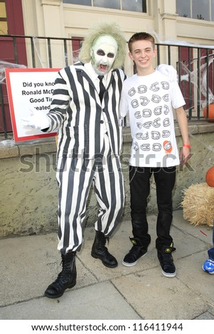 LOS ANGELES - OCT 21: Dylan Riley Snyder at the Camp Ronald McDonald for Good Times 20th Annual Halloween Carnival at the Universal Studios Backlot on October 21, 2012 in Los Angeles, California - stock photo