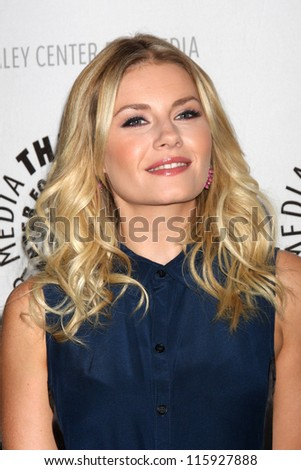 """LOS ANGELES - OCT 16:  Elisha Cuthbert arrives at  An Evening With """"Happy Endings"""" And """"Don't Trust The B---- In Apartment 23"""" at Paley Center For Media on October 16, 2012 in Beverly Hills, CA - stock photo"""