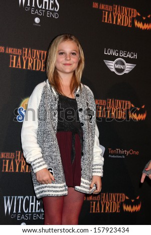 LOS ANGELES - OCT 10:  Emily Alyn Lind at the 8th Annual LA Haunted Hayride Premiere Night at Griffith Park on October 10, 2013 in Los Angeles, CA