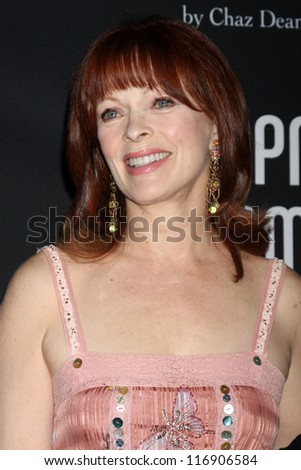 "LOS ANGELES - OCT 26:  Frances Fisher arrives at ""The Pink Party '12"" at Hanger 8 on October 26, 2012 in Santa Monica, CA - stock photo"