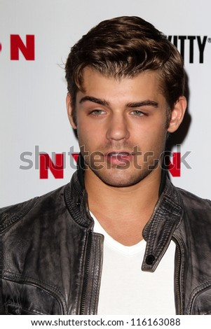 LOS ANGELES - OCT 15:  Garrett Clayton arrives at  Nylon's October IT Issue party at London West Hollywood on October 15, 2012 in Los Angeles, CA - stock photo