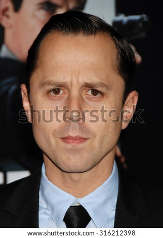 LOS ANGELES - OCT 4:  Giovanni Ribisi arrives at the Gangster Squad World Premiere  on January 7, 2013 in Hollywood, CA              - stock photo