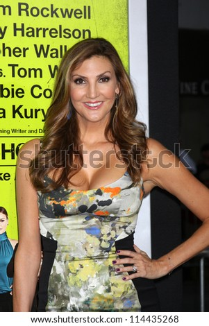 "LOS ANGELES - OCT 30:  Heather McDonald  at the ""Seven Psychopaths"" Premiere at Bruin Theater on October 30, 2012 in Westwood, CA - stock photo"