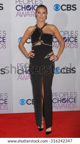 LOS ANGELES - OCT 4:  Heidi Klum arrives at the 2013 Peoples Choice Awards  on January 9, 2013 in Los Angeles, CA
