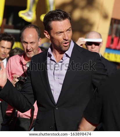 "LOS ANGELES - OCT 02:  HUGH JACKMAN arrives to the ""Real Steel"" Los Angeles Premiere  on Oct 02, 2011 in Universal City, CA"