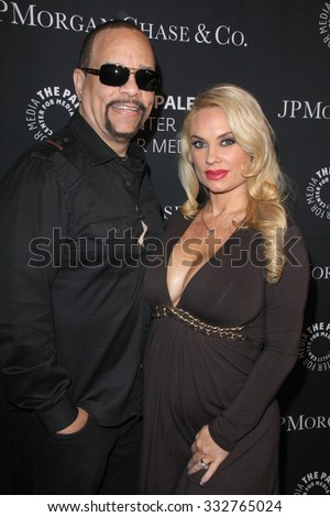 LOS ANGELES - OCT 26:  Ice-T, Coco Austin at the Paley Center's Hollywood Tribute to African-Americans in TV at the Beverly Wilshire Hotel on October 26, 2015 in Beverly Hills, CA - stock photo