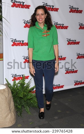 """LOS ANGELES - OCT 18:  Ione Skye arrives to the """"Jake and the Never Land Pirates: Battle for the Book"""" Los Angeles Premiere on October 18, 2014 in Burbank, CA                 - stock photo"""