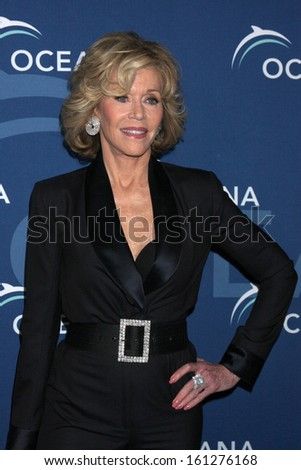 LOS ANGELES - OCT 30:  Jane Fonda at the Oceana's Partners Awards Gala 2013 at Beverly Wilshire Hotel on October 30, 2013 in Beverly Hills, CA - stock photo