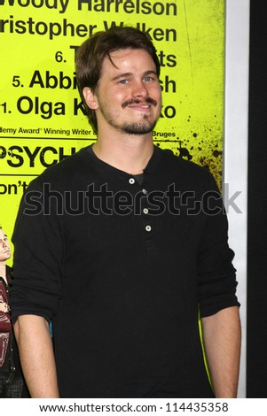"LOS ANGELES - OCT 30:  Jason Ritter  at the ""Seven Psychopaths"" Premiere at Bruin Theater on October 30, 2012 in Westwood, CA - stock photo"