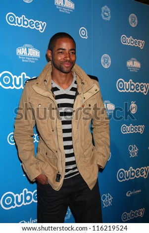 LOS ANGELES - OCT 20:  Jay Ellis arrives at  the Qubeeys Chris Brown Channel Launch Event at Private Residence on October 20, 2012 in Beverly Hills, CA - stock photo