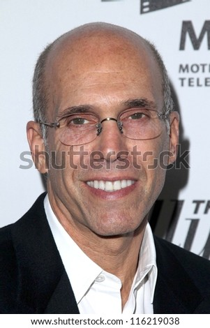 """LOS ANGELES - OCT 20:  Jeffrey Katzenberg arrives at  the """"Reel Stories, Real Lives"""" Event at Milk Studios on October 20, 2012 in Los Angeles, CA - stock photo"""