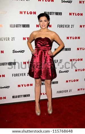 LOS ANGELES - OCT 15:  Jen Lilley arrives at  Nylon's October IT Issue party at London West Hollywood on October 15, 2012 in Los Angeles, CA - stock photo