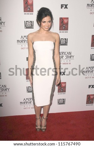 "LOS ANGELES - OCT 13:  Jenna Dewan-Tatum arrives at the ""American Horror Story: Asylum"" Premiere Screening at Paramount Theater on October 13, 2012 in Los Angeles, CA - stock photo"