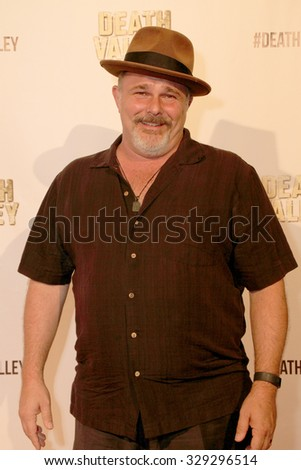 """LOS ANGELES- OCT 17: Jeremy Ratchford arrives at the """"Death Valley"""" film premiere Oct. 17, 2015 at Raleigh Studios in Los Angeles, CA. - stock photo"""