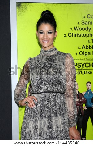 """LOS ANGELES - OCT 30:  Jessica Clark  at the """"Seven Psychopaths"""" Premiere at Bruin Theater on October 30, 2012 in Westwood, CA - stock photo"""
