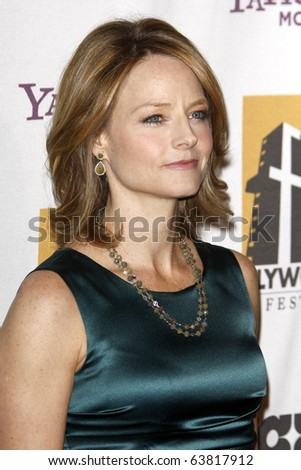 LOS ANGELES - OCT 25:  Jodie Foster arrives at the 14th Annual Hollywood Awards Gala at Beverly Hilton Hotel on October 25, 2010 in Beverly Hills, CA