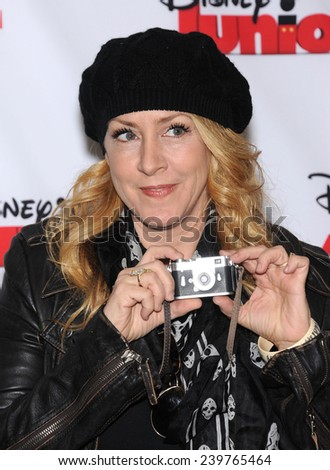 """LOS ANGELES - OCT 18:  Joely Fisher arrives to the """"Jake and the Never Land Pirates: Battle for the Book"""" Los Angeles Premiere on October 18, 2014 in Burbank, CA                 - stock photo"""