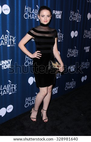 LOS ANGELES - OCT 17:  Joey King at the Hilarity for Charity`s James Franco`s Bar Mitzvah at the Hollywood Paladium on October 17, 2015 in Los Angeles, CA